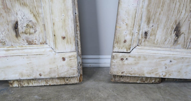 Wrought Iron Pair of Painted Swedish Doors with Original Iron Hardware For Sale