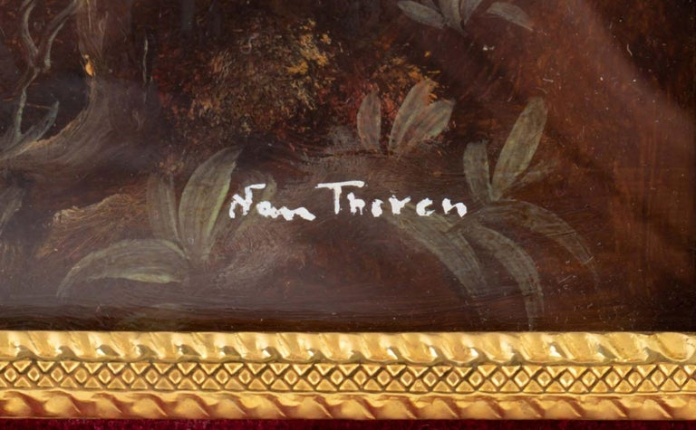 Pair of Painting on Porcelain Gilded Bronze Frame 19th Century Napoleon III For Sale 4