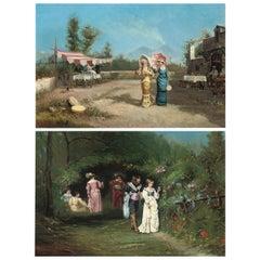 Pair of Paintings by Francesco Peluso