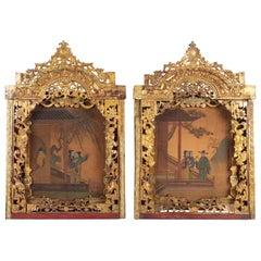 Pair of Paintings, China, 19th Century