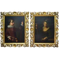 Pair of Paintings Depicting a Pilgrims of Compostela After Alexis Jean Grimou