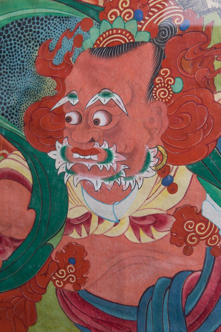 Pair of Paintings of Korean Buddhist Gods For Sale 3