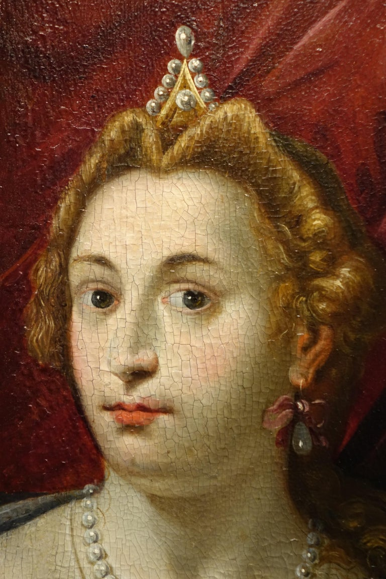Pair of Paintings on Panel, Workshop of Abraham Janssens For Sale 6