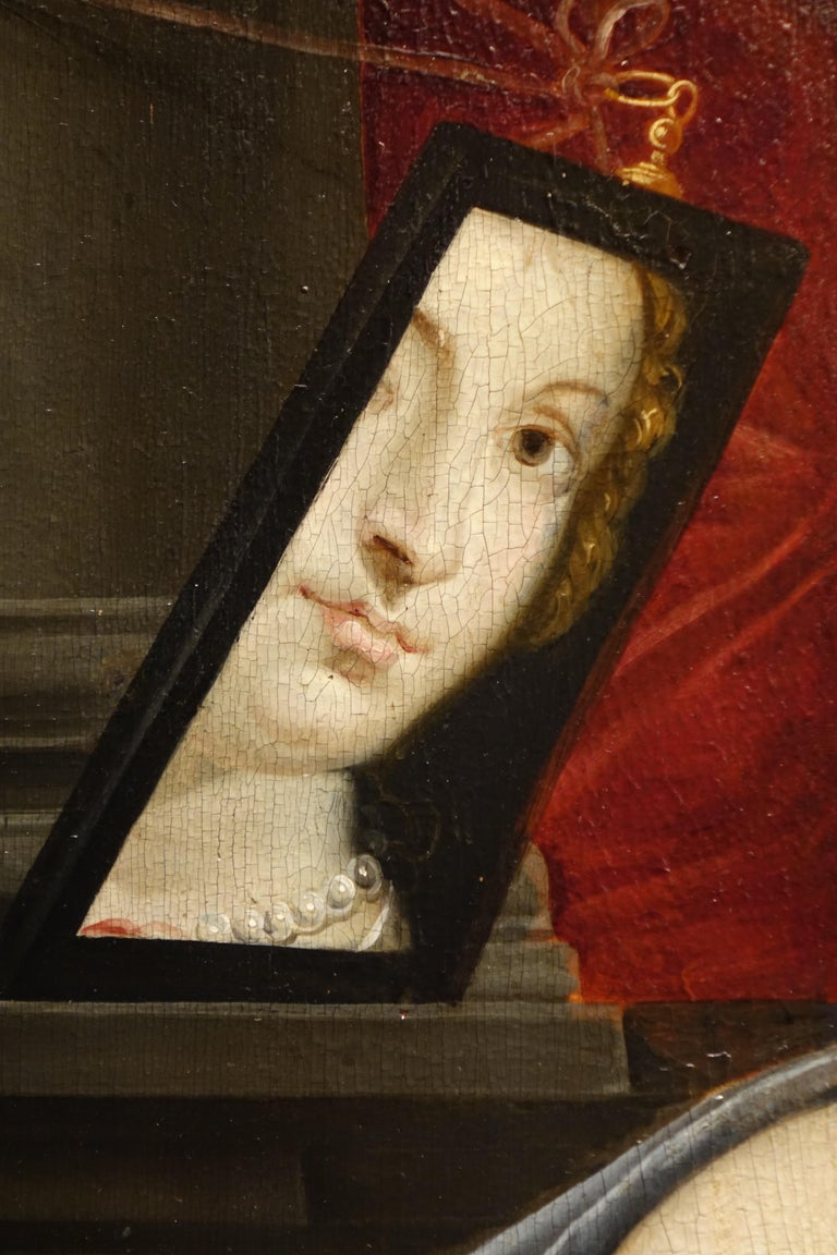 Pair of Paintings on Panel, Workshop of Abraham Janssens For Sale 7
