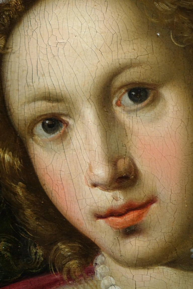 17th Century Pair of Paintings on Panel, Workshop of Abraham Janssens For Sale