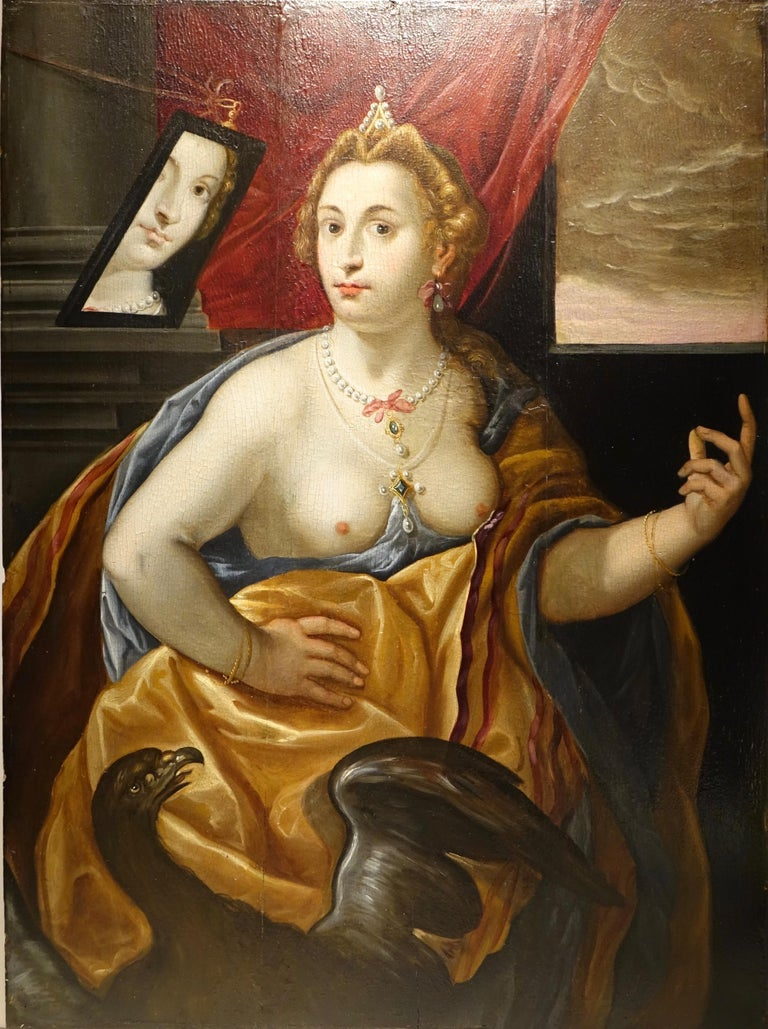 Wood Pair of Paintings on Panel, Workshop of Abraham Janssens For Sale