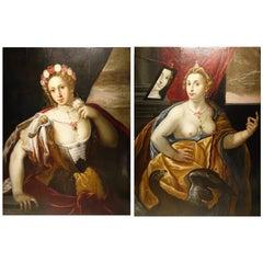 Pair of Paintings on Panel, Workshop of Abraham Janssens