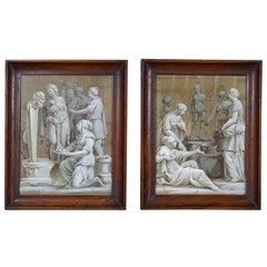 Pair of Paintings on Silk