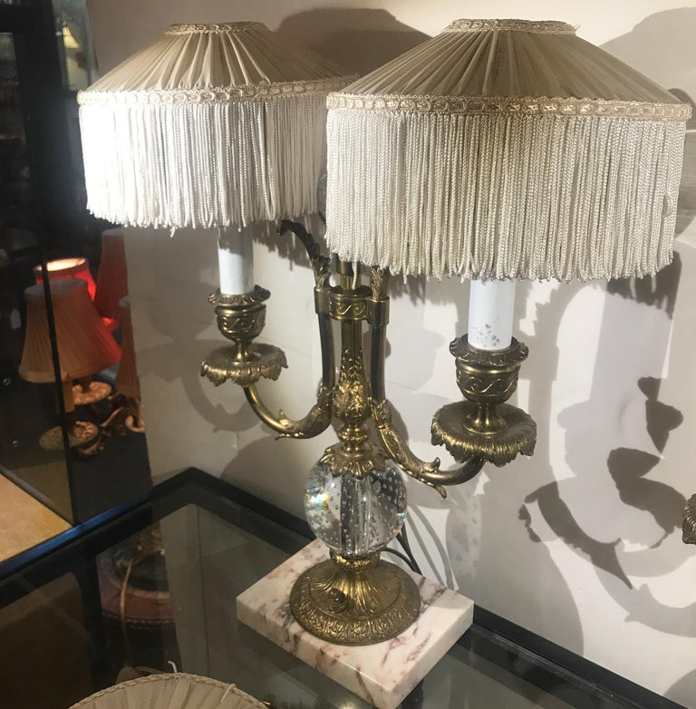 Pair Of Simple Church Lights For Sale: Pair Of Pairpoint Lamps, Circa 1910 For Sale At 1stdibs