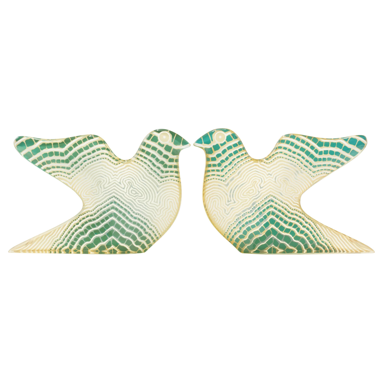 Pair of Palatnik Mid-Century Modern Op Art Lucite Bird Sculptures