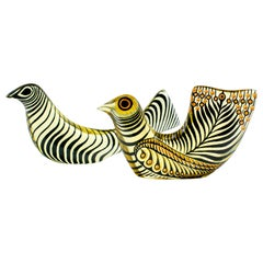 Pair of Palatnik Op Art Lucite Birds