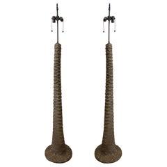 Pair of Palm Tree Floor Lamps
