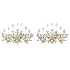 Pair of Palme & Walter Wall Sconces, Lights by Palwa, Germany, 1960s