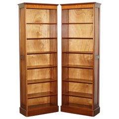 Pair of Panelled Cherrywood Library Office Bookcases Part of a Large Suite
