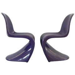 Pair of Panton S-Chairs in Purple by Verner Panton for Herman Miller, 1971-1973