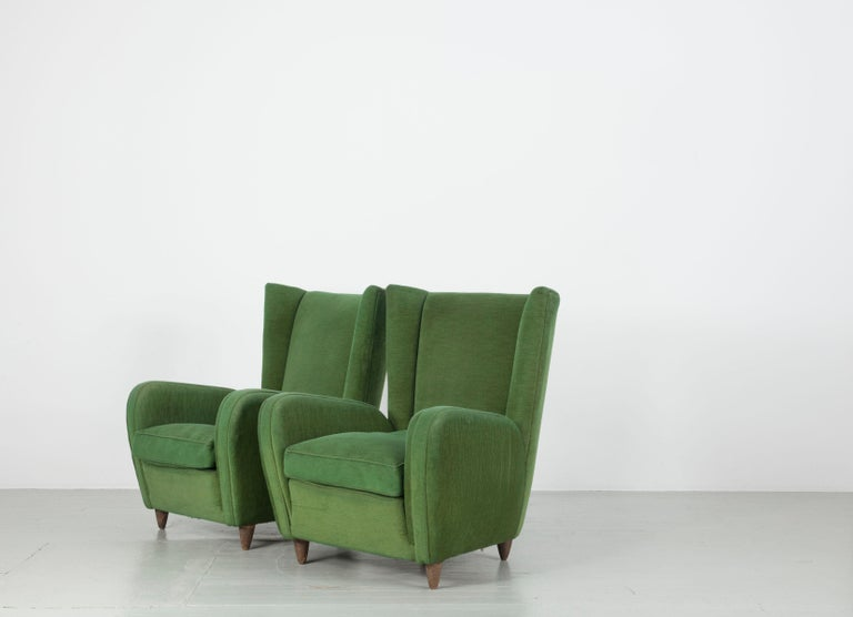 Pair of Paolo Buffa Armchairs For Sale 4