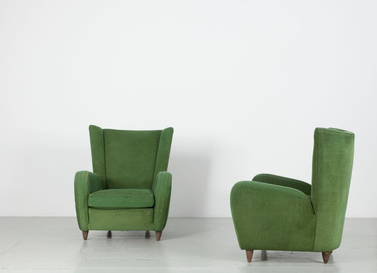 Pair of Paolo Buffa Armchairs For Sale 5