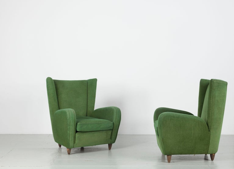 Pair of Paolo Buffa Armchairs For Sale 7