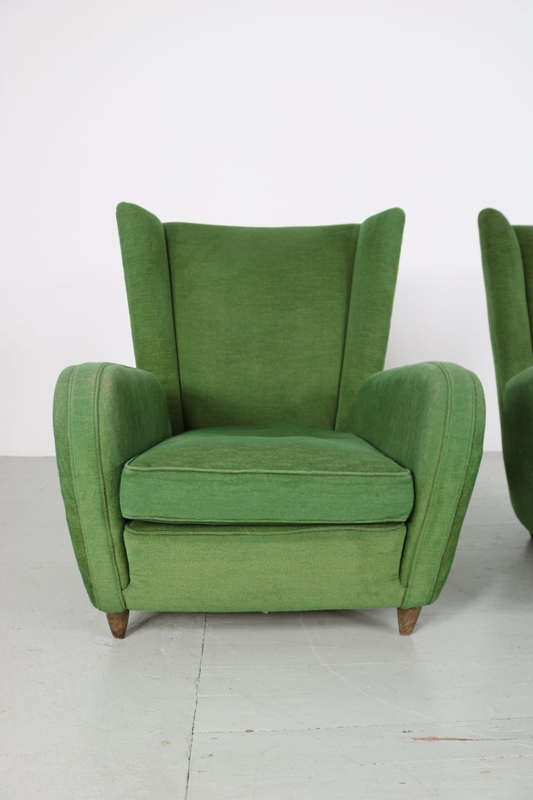 Pair of Paolo Buffa Armchairs For Sale 9