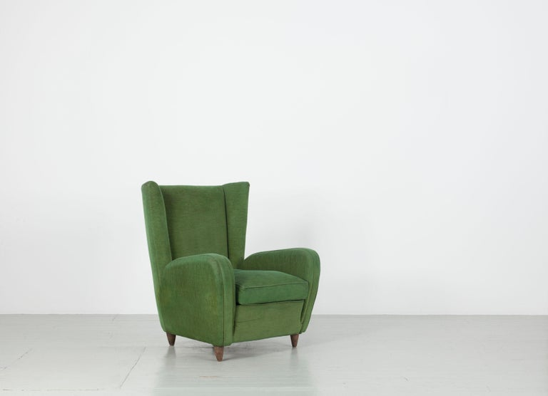Mid-Century Modern Pair of Paolo Buffa Armchairs For Sale