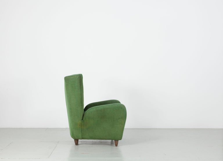 Italian Pair of Paolo Buffa Armchairs For Sale
