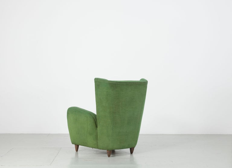 Wool Pair of Paolo Buffa Armchairs For Sale