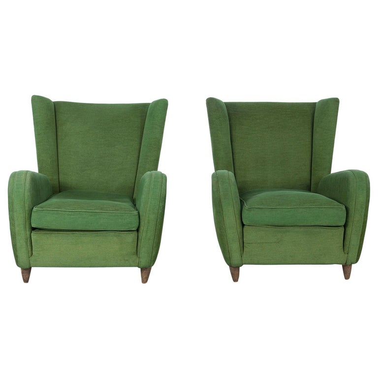 Pair of Paolo Buffa Armchairs For Sale