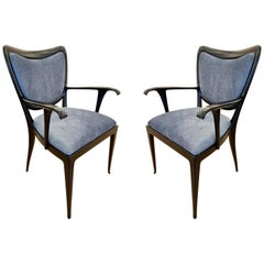 Pair of Paolo Buffa Armchairs, Italy, 1940s