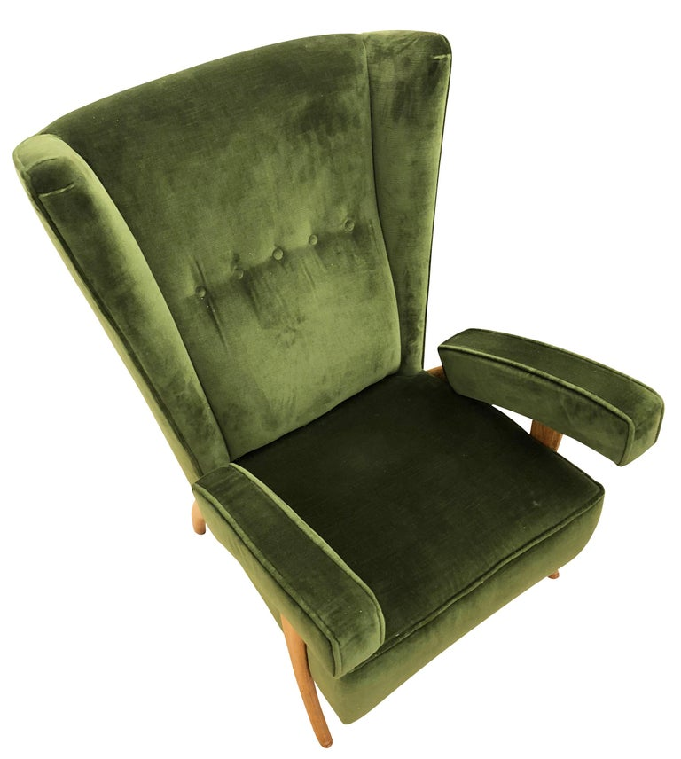 Italian Pair of Paolo Buffa Armchairs, Italy, 1950s For Sale