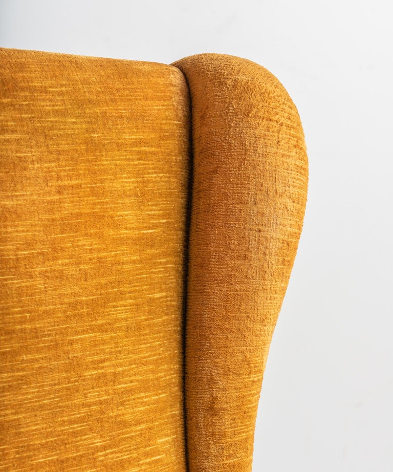 Velvet Pair of Paolo Buffa Armchairs, Italy, circa 1960 For Sale