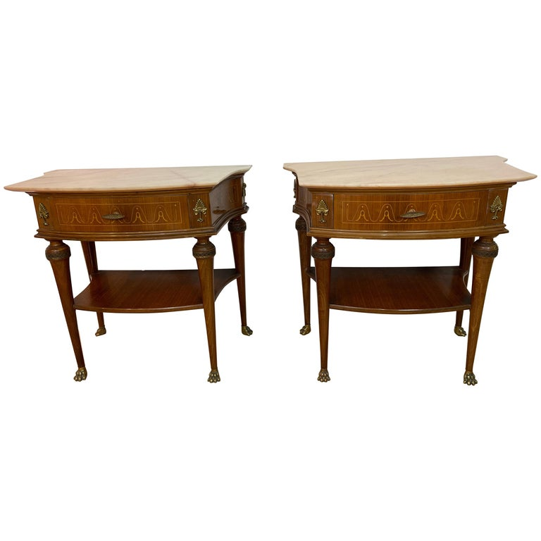 Pair of Paolo Buffa Bedside Tables For Sale