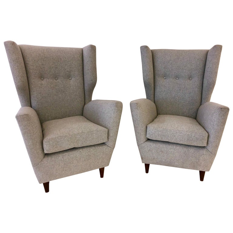 Pair of Paolo Buffa Club Chairs For Sale