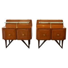 Pair of Paolo Buffa Italian 1950s Side Cupboards / Bedside