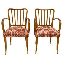 Pair of Paolo Buffa Mid-Century Modern Italian Armchairs, 1950s