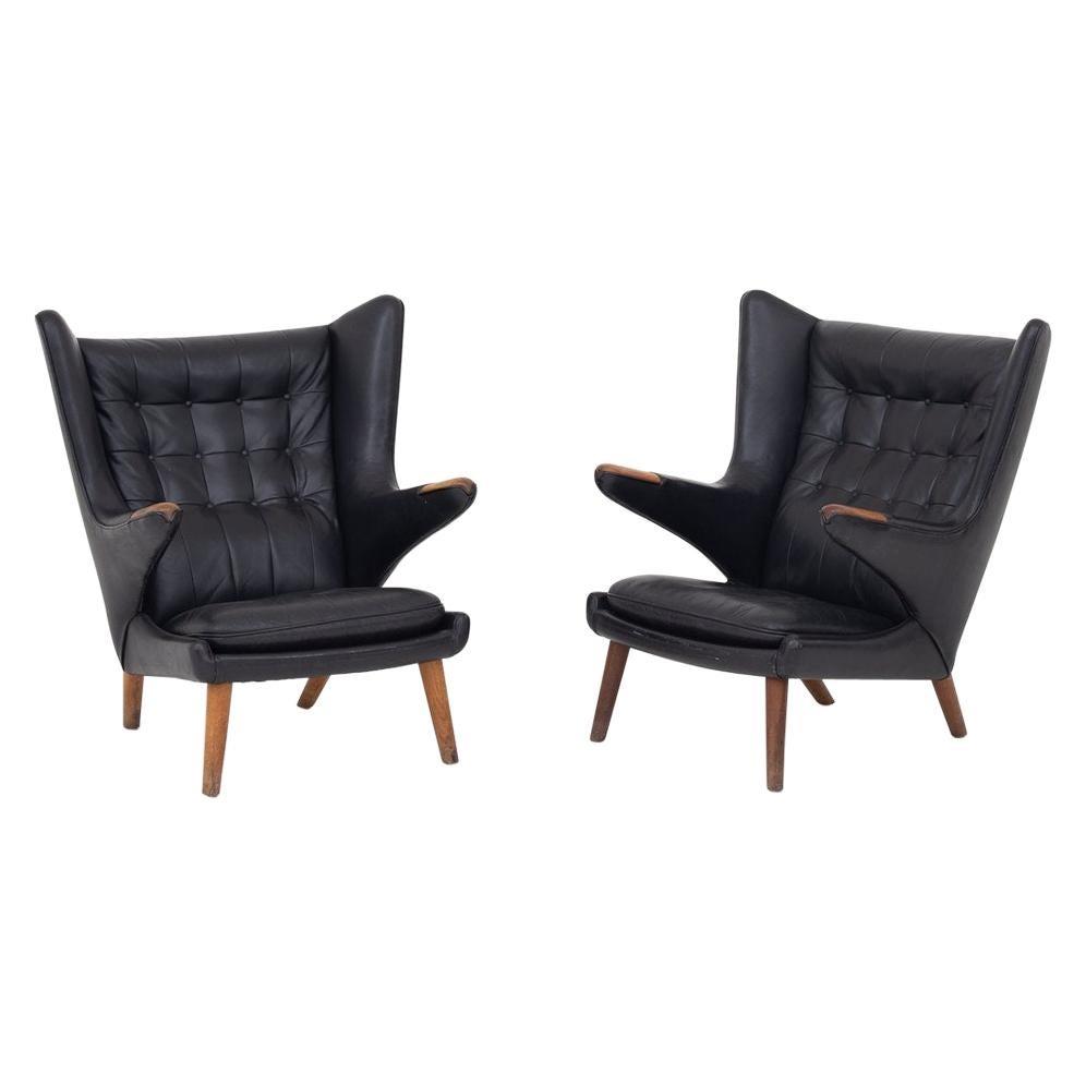 Pair of Papa Bear Chairs by Hans J. Wegner