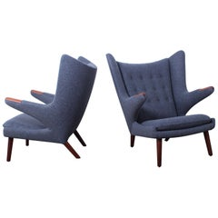 Pair of Papa Bear Chairs by Hans Wegner for A.P Stolen