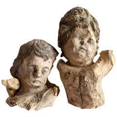 Pair of Papier Mâché Angels