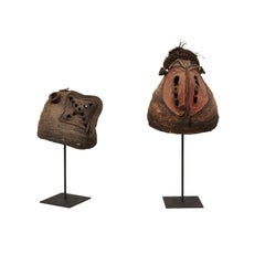 "Pair of Papua New Guinea ""Yam Festival"" Masks"