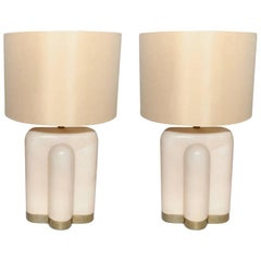 Pair of Parchment Table Lamps