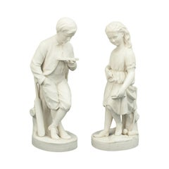 Pair of Parian Figures, Young England & Young England's Sister
