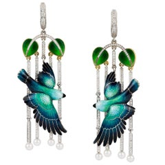 Pair of Parrot Earrings by Ilgiz F