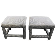 Pair of Parson Style Foot Stools or Ottomans