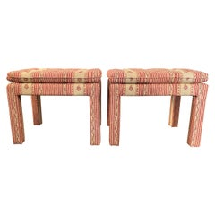 Pair of Parsons Style Ottoman Stools