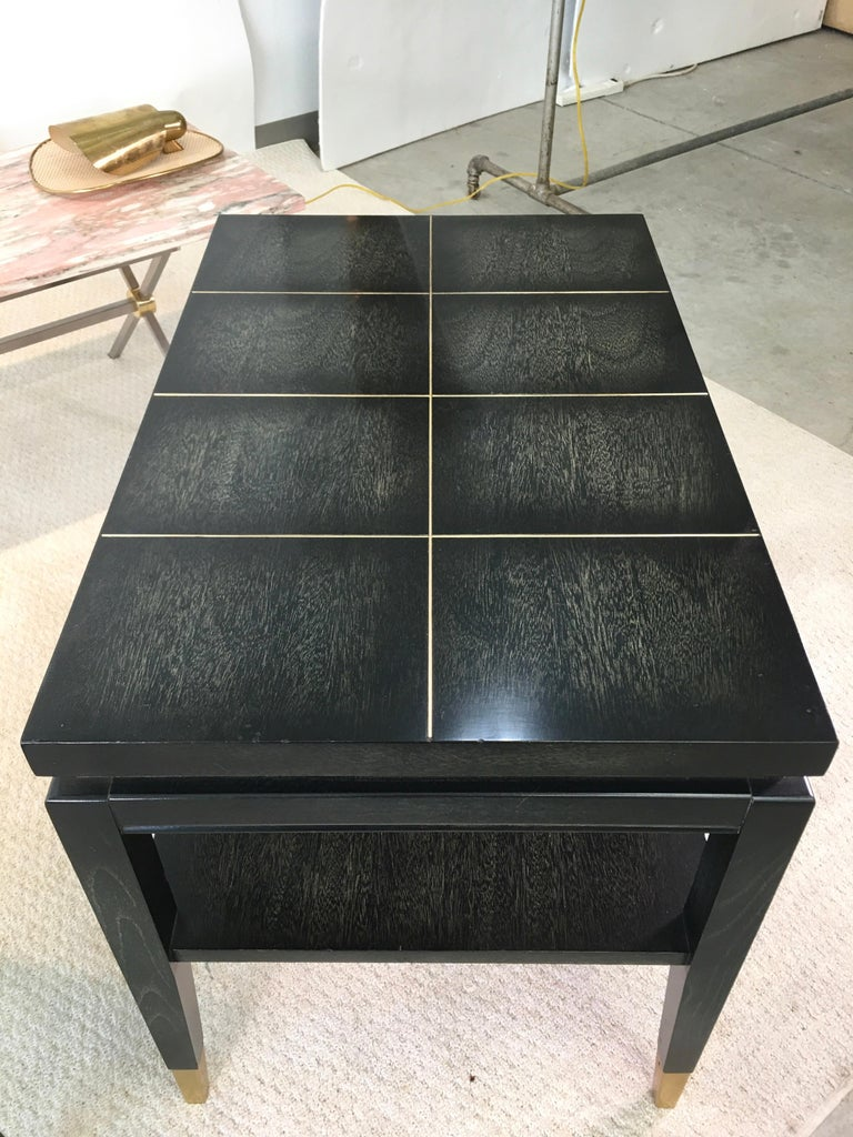 Mid-20th Century Pair of Parzinger Style Two-Tier End Tables For Sale