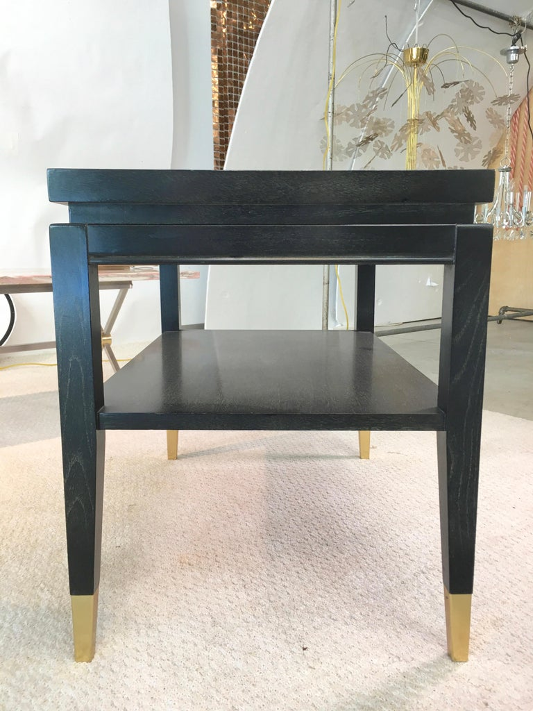 Pair of Parzinger Style Two-Tier End Tables For Sale 1