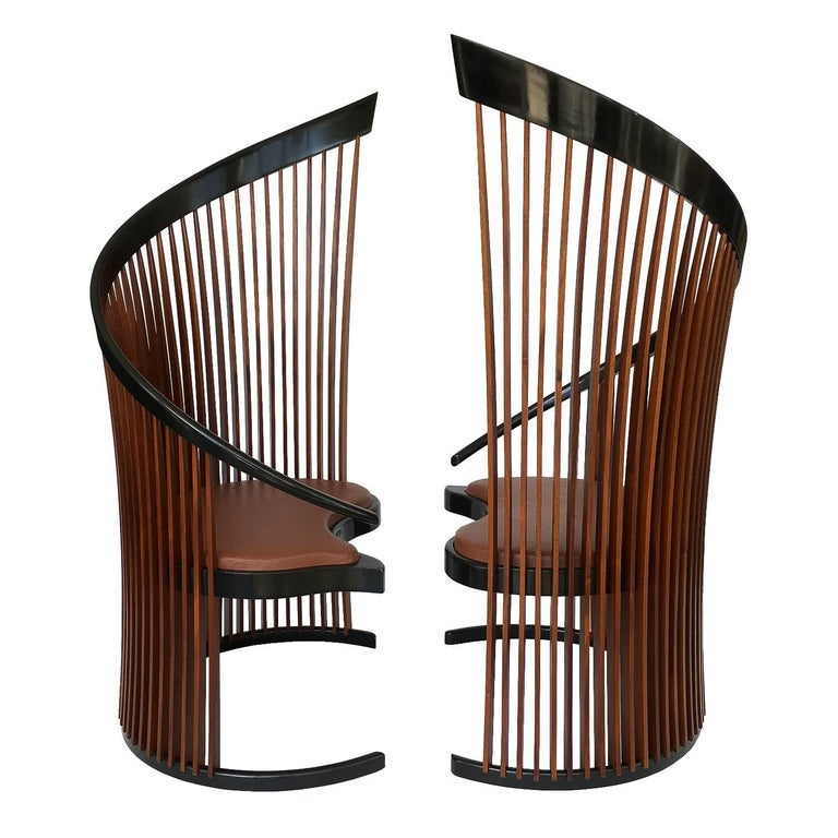 Pair of Paso Doble Sculptural Chairs by Thomas Stender