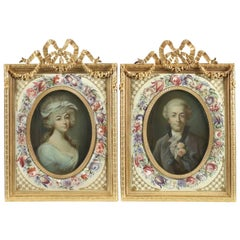 Pair of Pastel Portraits by Jean Baptiste Perronneau