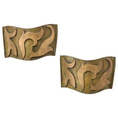 Pair of Patinated Bronze Sonate Sconces, Garouste & Bonetti France, 20th Century