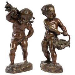 Pair of Patinated Bronzes, 19th Century