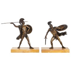 Pair of Patinated Bronzes Sculptures Horace and Curiace